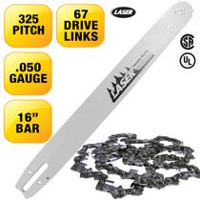 LASER 16'' Bar and Chain .325-050 67 Drive Links