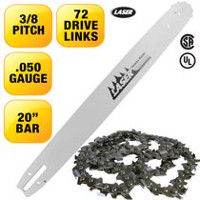 LASER 20'' Bar and Chain 3/8-050 72 Drive Links