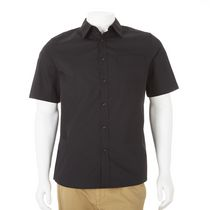 George Men's Short Sleeved Dress Shirt Black M/M