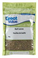 Herbe feuilles de basilic de Great Value