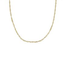 10Kt Yellow Gold Adjustable Singapore Chain