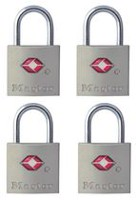 Master Lock 4683Q 20 mm Keyed Luggage Padlock - 4 Pack