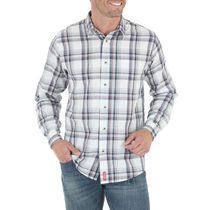 Wrangler Men's Long Sleeve Plaid Woven Shirt 3XL