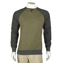 George Men's French Terry Long Sleeved T-Shirt Olive XL/TG