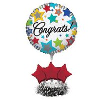 Ensemble de centre de table en ballons « Congrats » de Creative Converting
