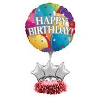 Creative Converting Balloon Happy Birthday Centrepiece Kit
