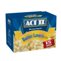 ACT II Microwave Popcorn! - Butter Lovers Flavour
