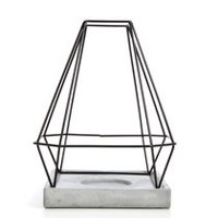 Large Cement Cage Candle Holder
