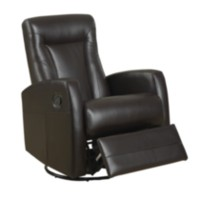 Monarch Specialties Swivel Rocker Dark Brown Recliner Brown