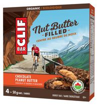 CLIF Bar Nut Butter Organic Chocolate Peanut Energy Bars