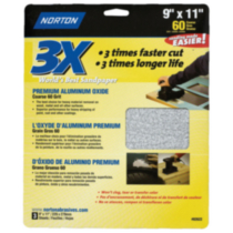 "3X High Performance Sandpaper 9""x11"" Coarse"