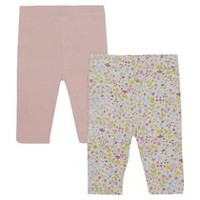 George British Design Baby Girls' 2Pk All Over Print Legging 3-6 months
