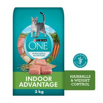 Purina ONE® smartblend™ Indoor Hairball and Weight Control Cat Food 3kg