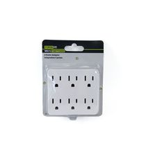 Woods Industries Power It! 6-Outlet Adapter