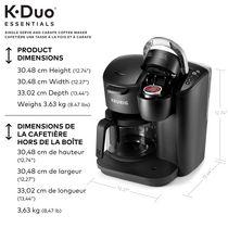 Keurig K-Duo Essentials Single Serve K-Cup Pod & Carafe Coffee Maker - image 6 of 9