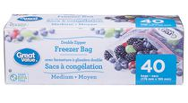 Great Value Slider Freezer Bags