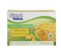 Great Value Organic Butter Flavour Microwave Popping Corn
