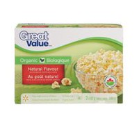 Great Value Organic Natural Flavour Microwave Popping Corn