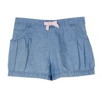 George baby Girls' Bubble Shorts Blue 6-12 months