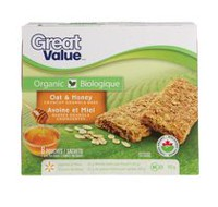 Barres granola croquantes avoine et miel de Great Value Biologique