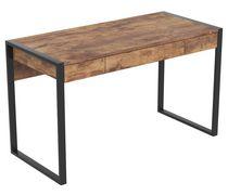 Safdie & Co. Computer Desk 50L Brown Reclaimed Wood 3 Drawers Black Metal
