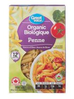 Pâtes penne de Great Value Biologique