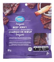 Charqui de bœuf Teriyaki de Great Value