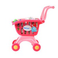 kid connection My Lil' Shopping Cart - Pink, 28 Pieces