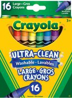 16 Large Washable Crayons