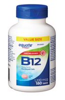 Equate Time Release B12 Tablets