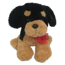 Best Made Toys Sitting Floppy Dog Plush Toy - Beige and Black