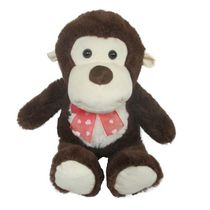 Best Made Toys 14 Inch Sitting Monkey Plush Toy - White