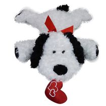 Best Made Toys 23.62 Inch Floppy Dog With Heart Plush Toy - Black and White