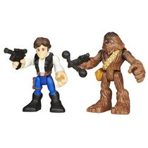 Star Wars Galactic Heroes Hans Solo and Chewbacca Figures