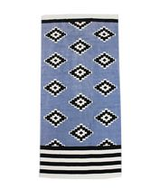 SEAKEEPER PRINTED BEACH TOWEL - LIGHT BLUE AZTEC
