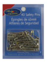 Brass and Steel Safety Pins, assorted sizes