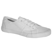George Ladies' Low-cut Canvas Lace Up Shoes White 7