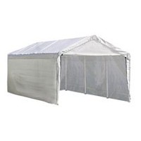 Max AP Canopy 3-in-1 10 ft. x 20 ft. 1-3/8 in. 4-Rib Frame White Cover Enclosure and Extension Kits