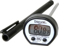 Taylor Digital Instant Read Black Thermometer