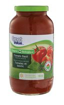 Great Value Organic Tomato Basil Pasta Sauce