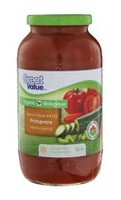Great Value Organic Primavera Pasta Sauce