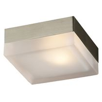 Illumination 1-Light Satin Nickel Square Flush Mount