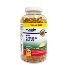 Equate 1000 mg Wild Salmon & Fish Oil Softgels