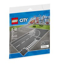 LEGO(MD) City Supplementary Jeu de construction avec plaques de route, intersection et virage