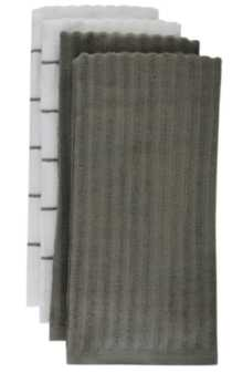 Mainstays Kitchen Towels-4 pack Grey