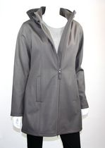 Athletic Works Ladies Soft Shell Jacket with Hood Gray Medium