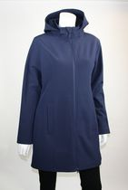 Athletic Works Ladies Soft Shell Jacket with Hood Blue Large
