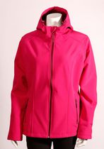 Athletic Works Women's Soft Shell Jacket with Hood Fuschia Medium