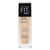 Maybelline New York Fit Me Hydrate + Smooth Fond de teint Ivoire classique