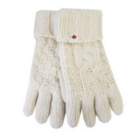 Canadiana Women's Icelandic Cable Knit Gloves Ivory